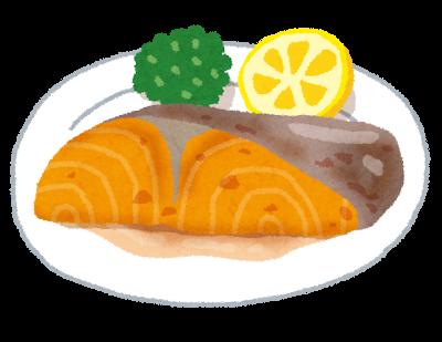 鮭切り身料理イラスト
